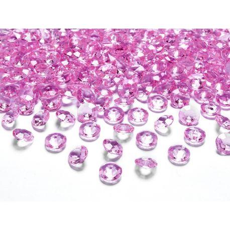 Ružové diamanty 12mm - ružová farba