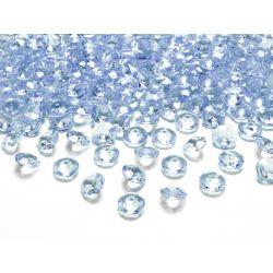 Modré diamanty 12mm - svetlo modrá farba