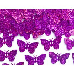 Ružové konfety na stôl - motýle