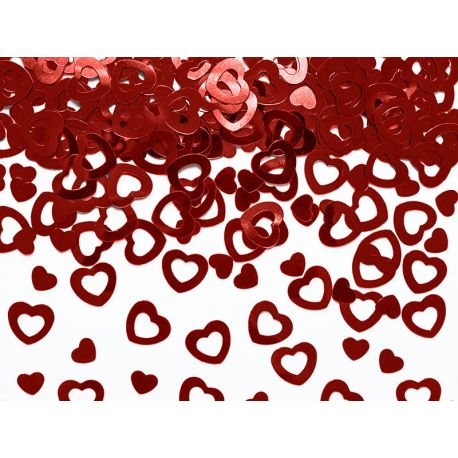 Konfety srdcia červené