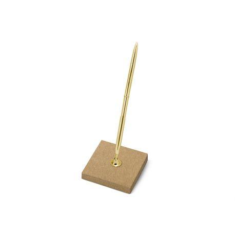 Svadobné pero so stojančekom zlaté
