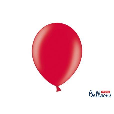 Balón metalický - červená farba