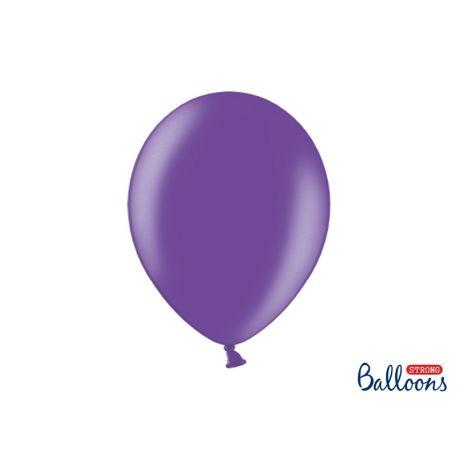 Balón metalický - fialová farba