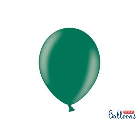 Balón metalický - tmavo zelená farba