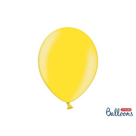 Balón metalický - žltý