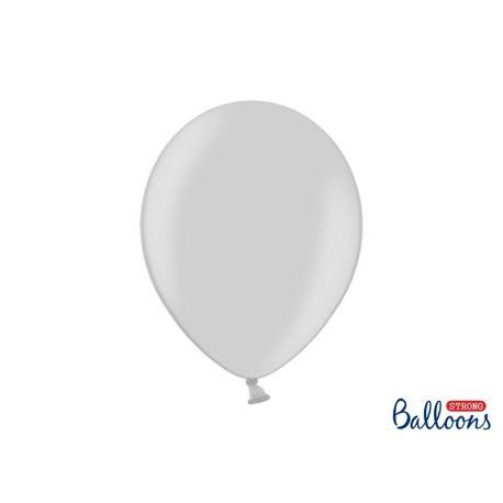 Balón metalický - stieborná farba