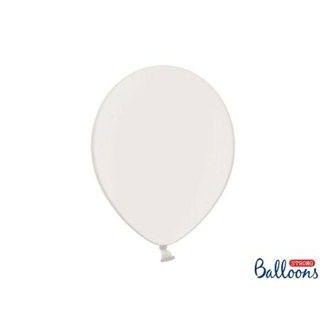 Balón metalický - biela farba
