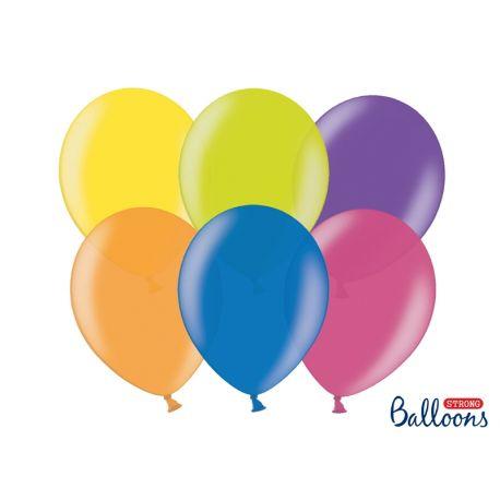 Balóny metalické 100ks - mix farieb
