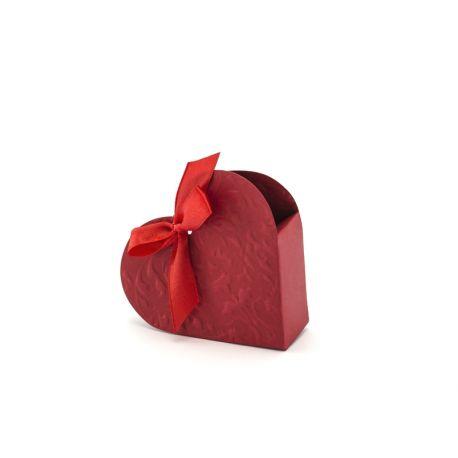 Krabička na darčeky pre hostí - bordové srdce