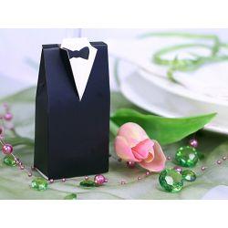 Krabička na darčeky pre hostí - čierny oblek