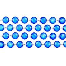 Girlanda kryštálová 100cm tmavo modrá
