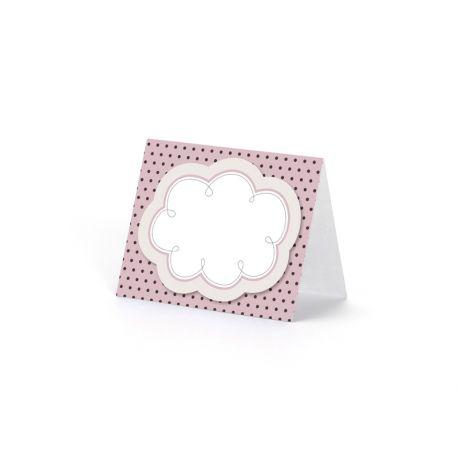 Menovka na stôl - mix ružová farba