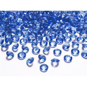 Modré diamanty 12mm - tmavo modrá farba