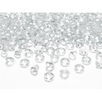 Biele diamanty 12mm - biela farba