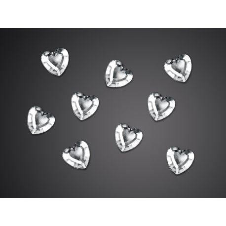 Srdce strieborné 12mm