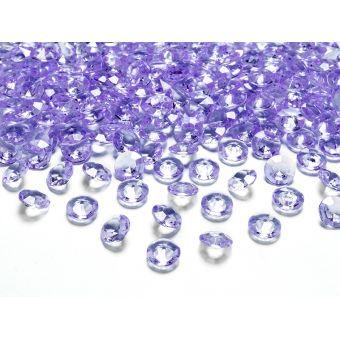Fialové diamanty 12mm - fialová farba