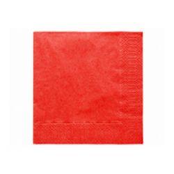 Červené papierové obrúsky - 33cm/20ks