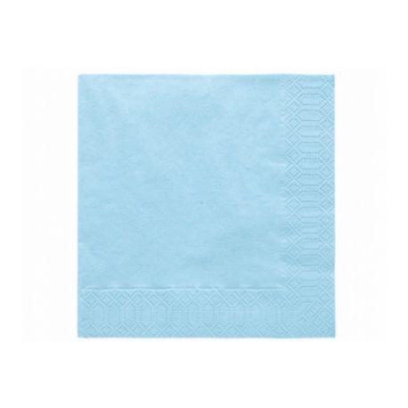 Modré papierové obrúsky - Standard 33cm/20ks
