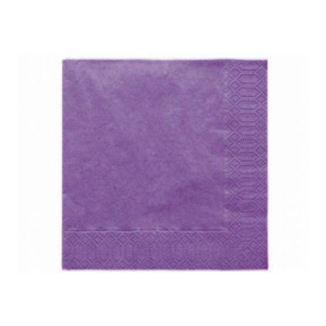 Fialové papierové obrúsky - Standard 33cm/20ks