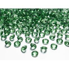 Zelené diamanty 12mm - zelená farba