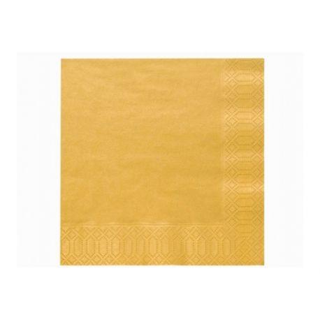 Zlaté papierové obrúsky - Standard 33cm/20ks