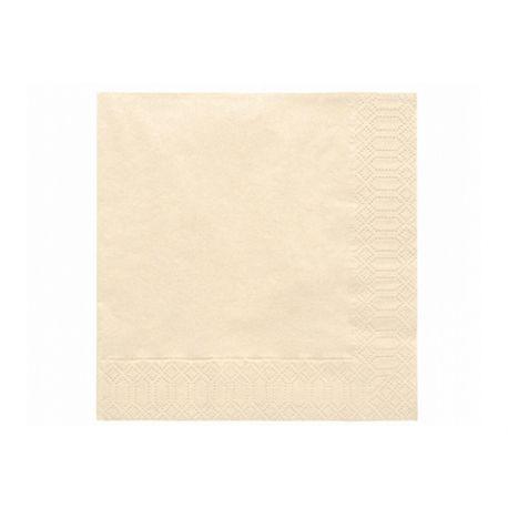 Krémové papierové obrúsky - Standard 33cm/20ks