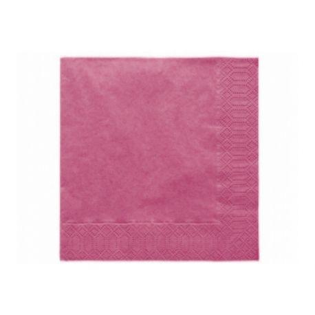 Fuchsiové papierové obrúsky - Standard 33cm/20ks