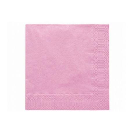 Ružové papierové obrúsky - Standard 33cm/20ks