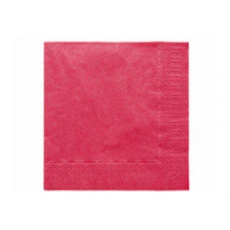 Bordové papierové obrúsky - Standard 33cm/20ks