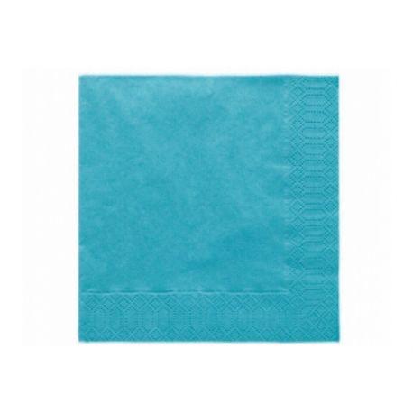 Tyrkysové papierové obrúsky - Standard 33cm/20ks