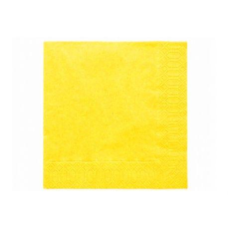 Žlté papierové obrúsky - Standard 33cm/20ks