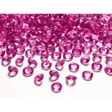 Diamanty 12mm tmavo ružové
