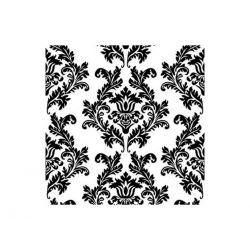 Čierne papierové obrúsky Ornamenty - Standard 33cm/20ks