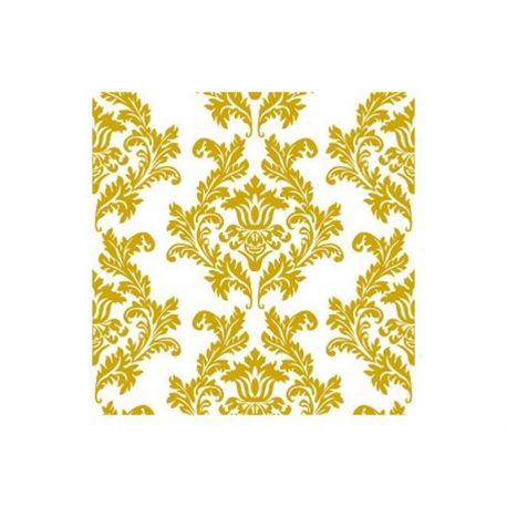 Zlaté papierové obrúsky Ornamenty - Standard 33cm/20ks