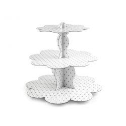 Papierový stojan na muffiny - trojposchodový