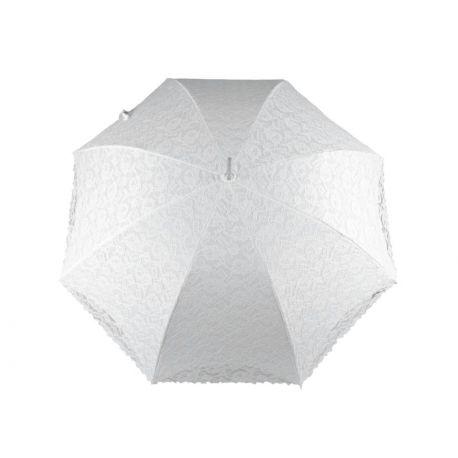 Čipkovaný svadobný slnečník 67cm