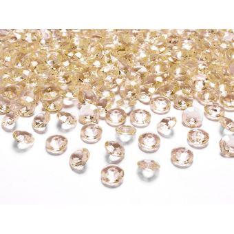 Zlaté diamanty 12mm - zlatá farba