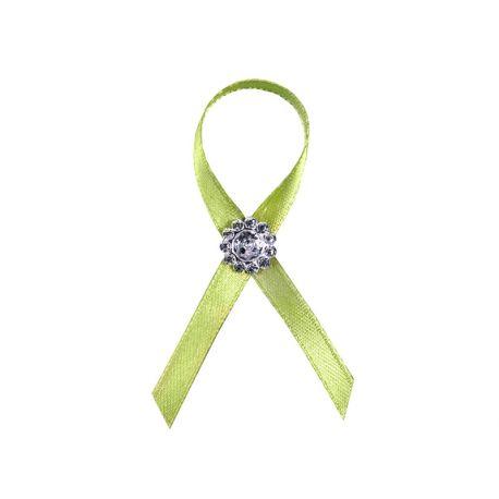 Svadobné pierka pre hostí - zelené pierka s dekoráciou