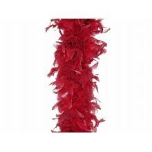Červená BOA z peria