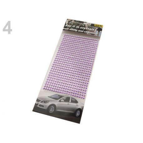 Samolepiace fialové kamienky kryštáľ - 4mm