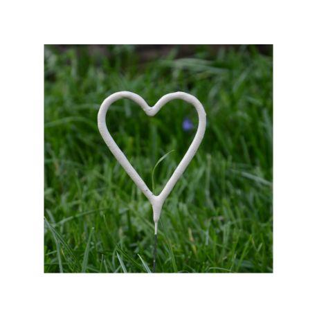 Prskavky v tvare srdca - biele
