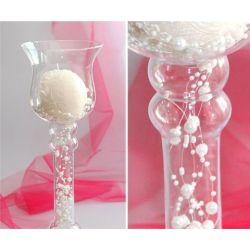 Sklenený svietnik/váza - 36cm