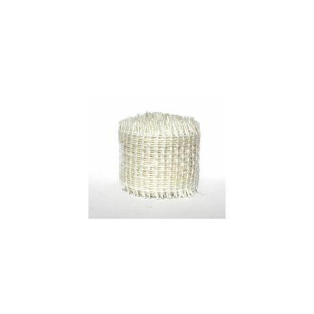 Biela jutová stuha - šírka 4cm
