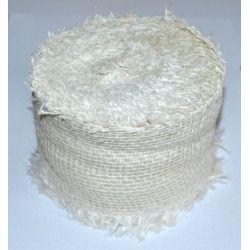 Biela jutová stuha - šírka 8cm