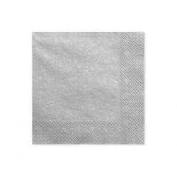 Sivé papierové obrúsky - Standard 33cm/20ks