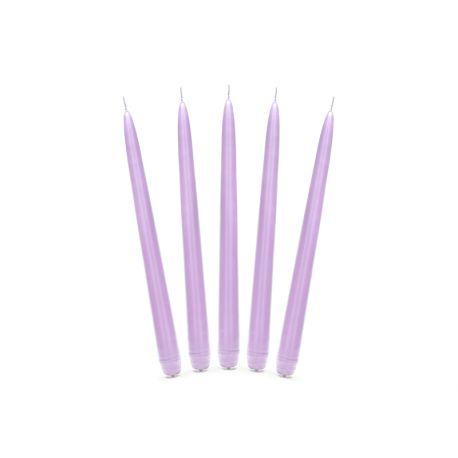 Sviečka kónická fialová matná - 24cm