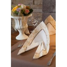 Luxusné obrúsky Amira brown 40x40cm