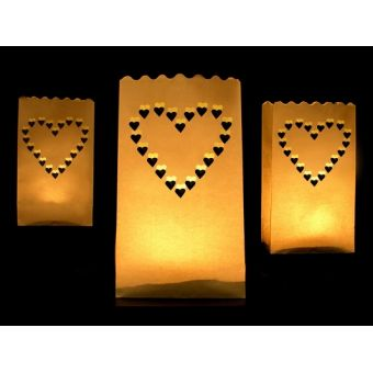 Lampión na sviečku Srdce