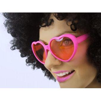 Srdiečkové okuliare ružové