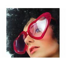 Červené srdiečkové okuliare